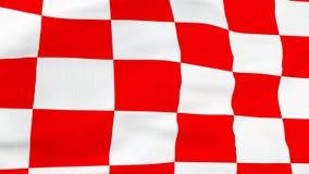 Chorwacka czerwieni i białych kwadratów flaga fotografia royalty free
