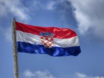 Chorwacka flaga państowowa Fotografia Royalty Free