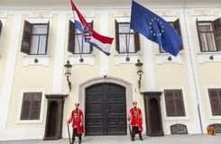 Chorwacka gwardia narodowa obrazy royalty free