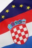 Chorwacki żakiet ręki obraz royalty free