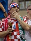 chorwacki fan Zdjęcia Stock