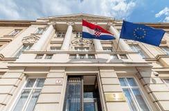 Chorwacki parlamentu budynek Obraz Stock