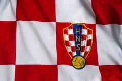 Chorwacki piłki nożnej drużyna narodowa. bydło Obraz Royalty Free