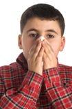 chory chłopiec Zdjęcie Stock