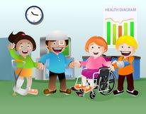 Chory dzieciak na sala szpitalnej Obraz Royalty Free