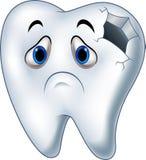 Chory zębu charakter z próchnicami Zdjęcia Royalty Free
