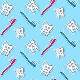 Chorych zębów bezszwowy wzór Obraz Royalty Free