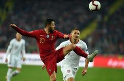 UEFA Nations League Poland - Portugal royalty free stock photos