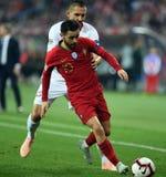 UEFA Nations League Poland - Portugal stock image