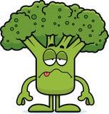 Chorzy kreskówka brokuły ilustracja wektor