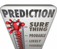 Chose certaine Outco probable probable possible de thermomètre de prévision illustration libre de droits