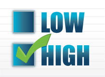 Chose between low and high. Illustration design Stock Image
