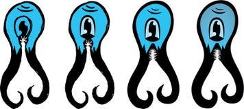 Chose mignonne de tentacule Photos libres de droits