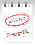 Chose natural over artificial illustration Stock Images