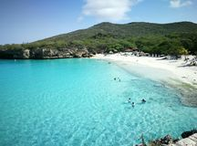 Curaçao beaches and relaxing. Chose a place to relax Royalty Free Stock Photos