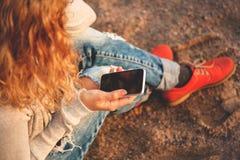 Chose utile - smartphone photographie stock