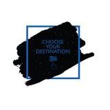 Chose your destination icon illustration Royalty Free Stock Image