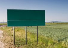 Chose your way blank billboard Stock Photo