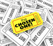The Chosen One Golden Ticket Lucky Winner Selected Game Competit Stock Photo