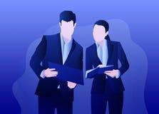 Choses d'affaires au papier illustration libre de droits