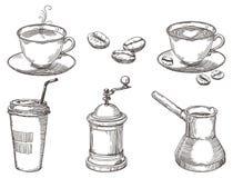 Choses de café Photographie stock libre de droits