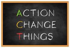 choses de changement d'action illustration libre de droits