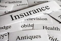 Choses de concept d'assurance à assurer photos stock