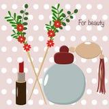 Choses de cru pour la beauté - illustration de vecteur, ENV illustration stock