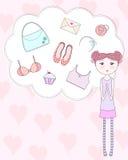 Choses de Girly Photo stock