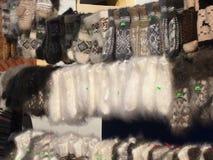 Choses de laine Photos libres de droits