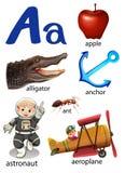 Choses qui commencent par la lettre A illustration stock