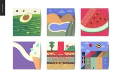 Choses simples - cartes illustration stock