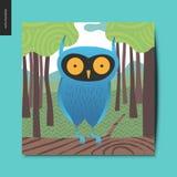Choses simples - hibou bleu Photographie stock