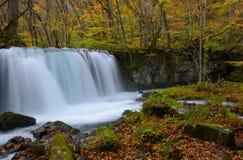 Choshi otaki waterfall, Oirase gorge in Autumn, in Aomori, Japan Stock Images
