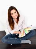 Chosing paint colours Stock Photos