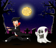 Chost и вампир Стоковая Фотография RF