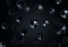 Chotic polygonbakgrund royaltyfri bild
