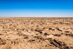 Chott el Djerid (biggest salt lake in north africa), tunisia Royalty Free Stock Image