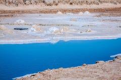 Chott el Djerid, salt lake in Tunisia Royalty Free Stock Images