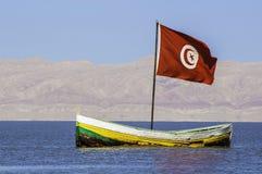The Chott el-Jérid Salt Lake,Tunis Royalty Free Stock Images
