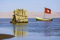 The Chott el-Jérid Salt Lake,Tunis Stock Image