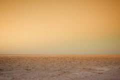 Chott El Jerid salt lake Royalty Free Stock Photos