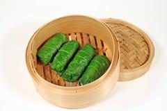 Chou asiatique cuit à la vapeur Rolls 1 Images libres de droits