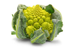 Chou de broccoli de Romanesco d'isolement Photographie stock