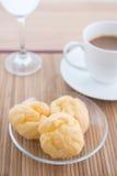 Chou e caffè Fotografia Stock Libera da Diritti