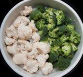 Chou-fleur et broccoli Image libre de droits