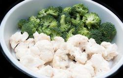 Chou-fleur et broccoli Photo libre de droits