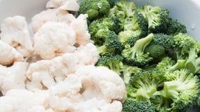 Chou-fleur et broccoli Photographie stock
