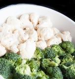 Chou-fleur et broccoli Photographie stock libre de droits