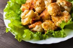 Chou-fleur frit Image stock